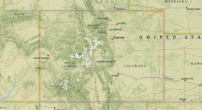 Rocky Mountain Goat Distribution and Habitat in Colorado